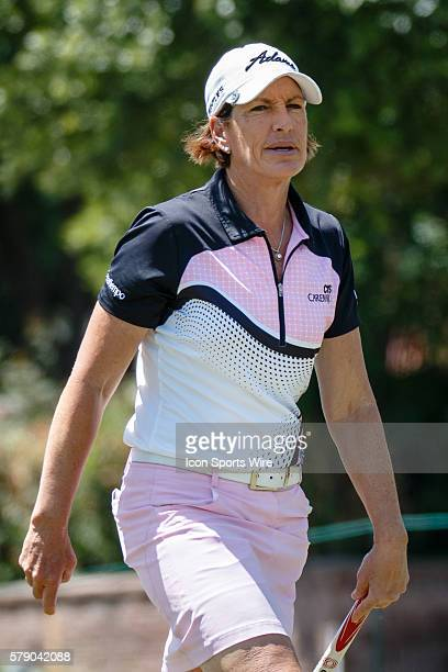 Julie Inkster in action during the first round of the North Texas LPGA Shootout played at the Las Colinas Country Club in Irving TX
