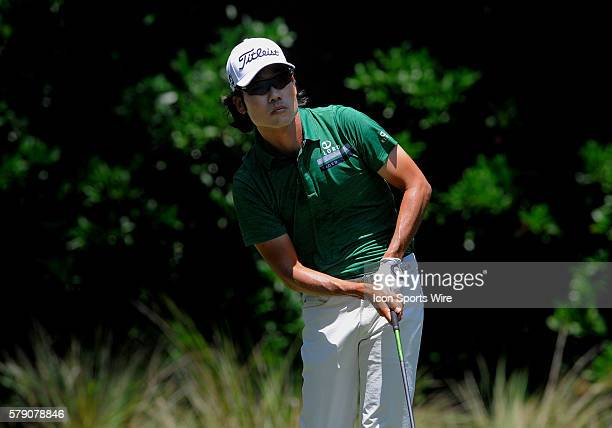 Kevin Na 11th tee box during the second round of the Players Championship at TPC Sawgrass in Ponte Vedra Beach, Florida.