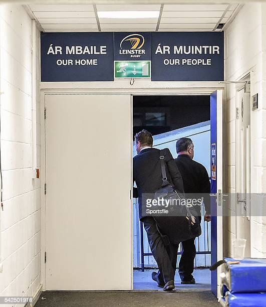 31 May 2014 Leinster's Brian O'Driscoll accompanied by security personnel leaves the drresingrooms at the RDS for the last time as a professional...
