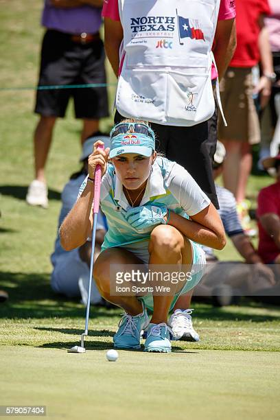 Lexi Thompson lines up her putt on during the final round of the North Texas LPGA Shootout played at the Las Colinas Country Club in Irving TX