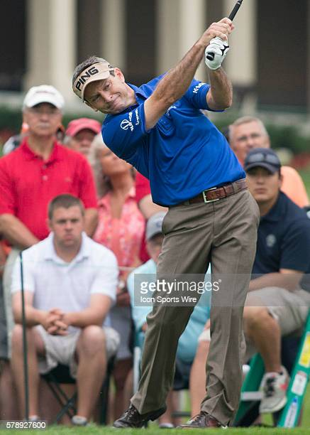 Mark Wilson teeing off during the First Round of the Memorial Tournament at the Muirfield Village Golf Club in Dublin