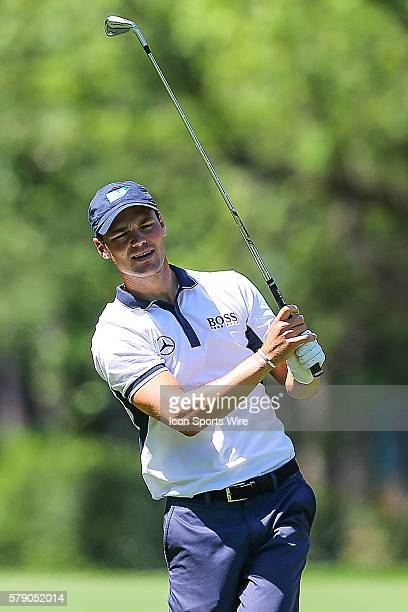 Martin Kaymer eyes his shot during third round action at the the Wells Fargo Championship Tournament at Quail Hollow Country Club Charlotte North...