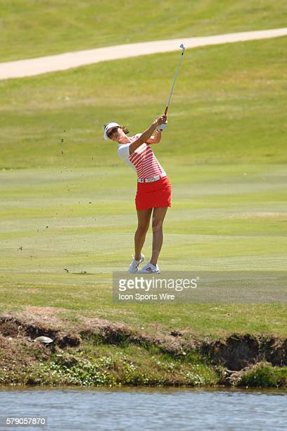 Michelle Wie hits her approach to during the final round of the North Texas LPGA Shootout played at the Las Colinas Country Club in Irving TX