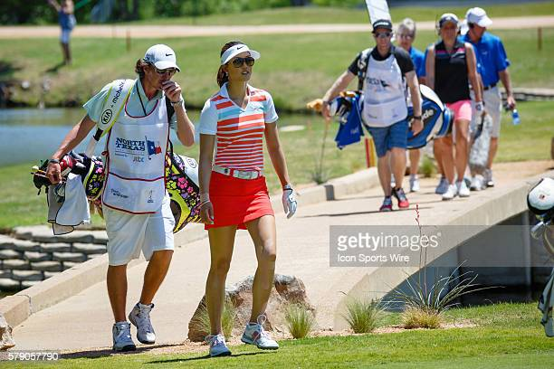 Michelle Wie walks up to the 8th green during the final round of the North Texas LPGA Shootout played at the Las Colinas Country Club in Irving TX