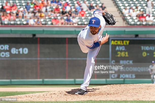 Texas Rangers Pitcher Joakim Soria [6458] gets the the save at the MLB game between the Seattle Mariners and Texas Rangers played at Globe Life Park...