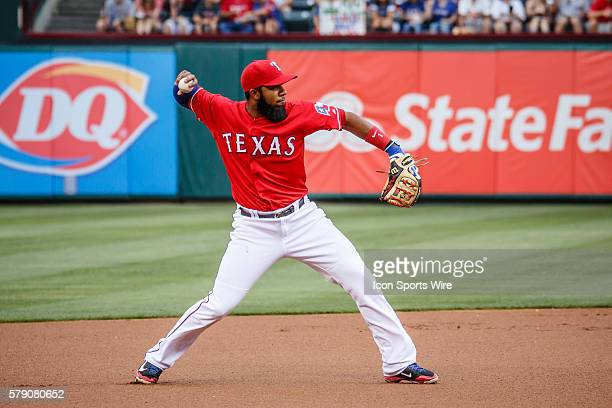 Texas Rangers Shortstop Elvis Andrus [6293] in action during the MLB baseball game between the Texas Rangers and Boston Red Sox at the Globe Life...