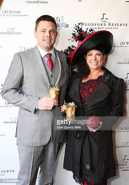 Tony and KristineHornaday, of Muncie, Ind., each enjoyed a $2,000 Woodford Reserve mint julep before the 140th running of the Kentucky Derby at...