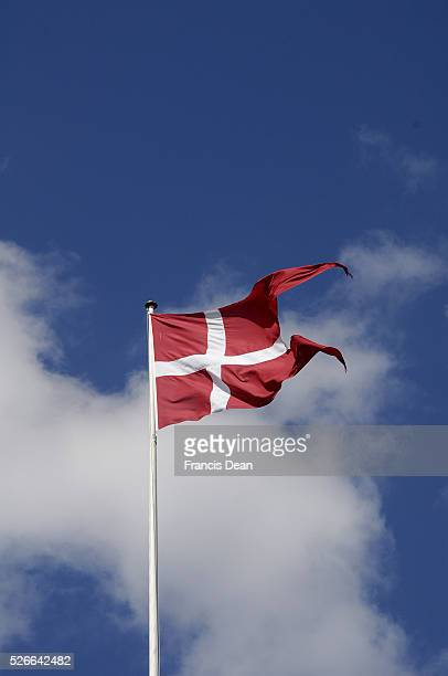 May 2015 _Dannebrog or danish flyes on saturday at ministry of defence