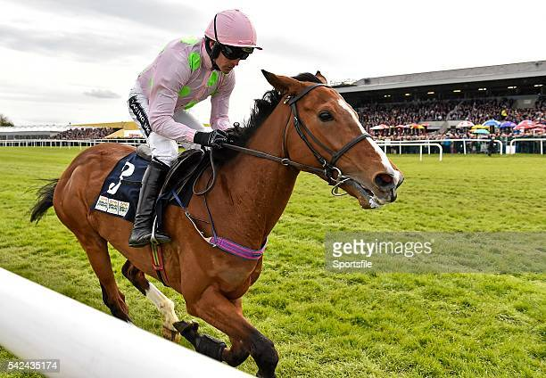 1 May 2015 Faugheen with Ruby Walsh up cross the finish line to win the Queally Group Celebrating 35 Years In Naas Punchestown Champion Hurdle...