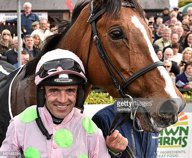 1 May 2015 Jockey Ruby Walsh after winning the Queally Group Celebrating 35 Years In Naas Punchestown Champion Hurdle on Faugheen Punchestown...