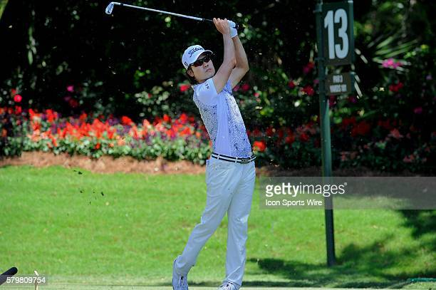 Kevin Na 13th tee during the second round of The Players Championship at TPC Sawgrass Ponte Vedra Beach Florida.