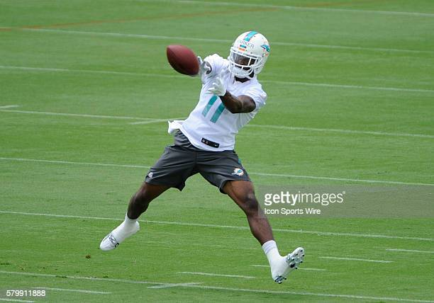 Miami Dolphins Wide Receiver DeVante Parker catches the ball during a practice session at the Miami Dolphins Organized Team Activity at the Dolphins...