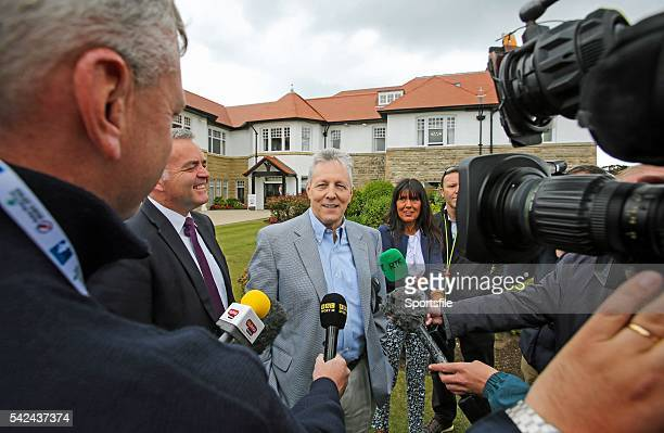 30 May 2015 Northern Ireland's First Minister Rt Hon Peter Robinson MLA makes his first public appearance since suffering a heart attack Dubai Duty...