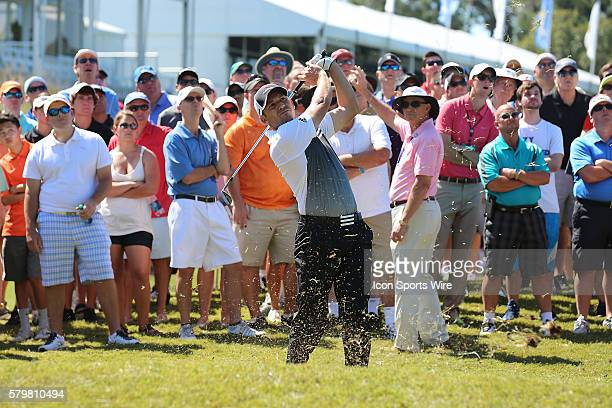 Sergio Garcia hits from the rough during the second round of THE PLAYERS Championship at TPC Sawgrass in Ponte Vedra Beach, Fl.