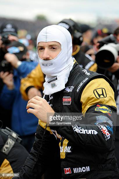 14 May 2016 | Aarow Schmidt Peterson Motorsports Honda driver James Hinchcliffe prepares to get into his car for the start of the Angie's List Grand...