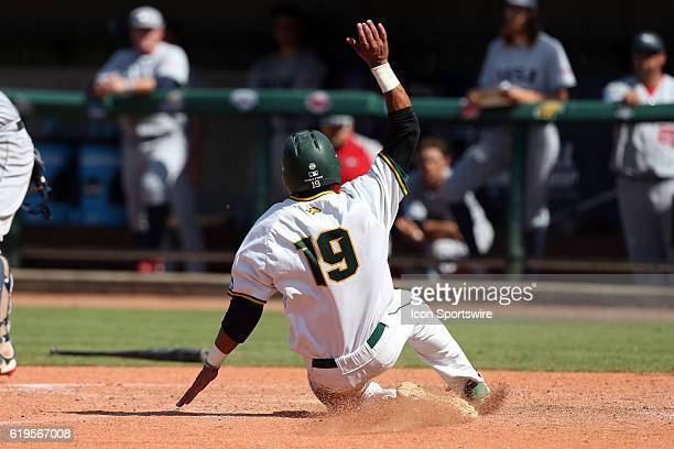 Cal Poly Pomona's Jared James scores the gamewinning run The Cal Poly Pomona Broncos played the Southern Indiana Eagles in Game 2 of the 2016 NCAA...