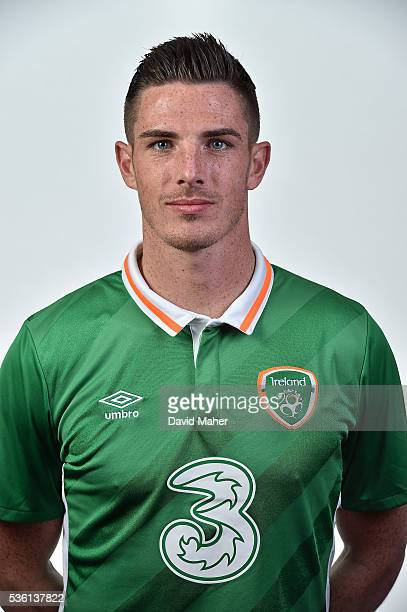 May 2016 Ciaran Clark of Republic of Ireland poses for a portrait at Castleknock Hotel in Dublin