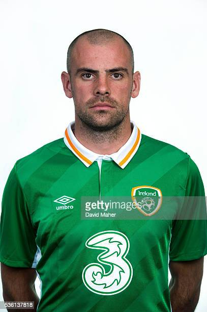 May 2016 Darron Gibson of Republic of Ireland poses for a portrait at Castleknock Hotel in Dublin