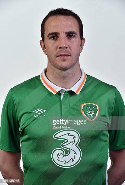 May 2016 John O'Shea of Republic of Ireland poses for a portrait at Castleknock Hotel in Dublin
