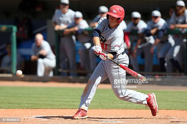 SIU Logan Brown The Cal Poly Pomona Broncos played the Southern Indiana Eagles in Game 2 of the 2016 NCAA Division II College World Series at Coleman...