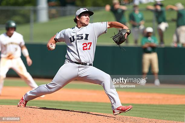 SIU's TJ Decker The Cal Poly Pomona Broncos played the Southern Indiana Eagles in Game 2 of the 2016 NCAA Division II College World Series at Coleman...