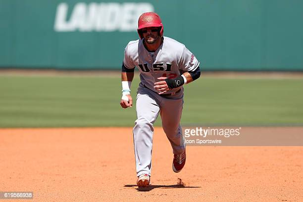 SIU's Trent Gunn The Cal Poly Pomona Broncos played the Southern Indiana Eagles in Game 2 of the 2016 NCAA Division II College World Series at...