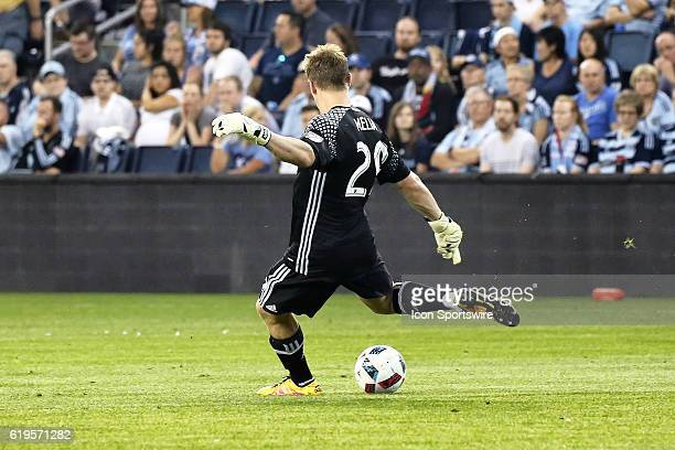 Sporting Kansas City goalkeeper Tim Melia in a match between DC United and Sporting Kansas City at Children's Mercy Park in Kansas City KS DC United...