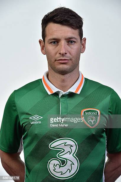 May 2016 Wesley Hoolahan of Republic of Ireland poses for a portrait at Castleknock Hotel in Dublin