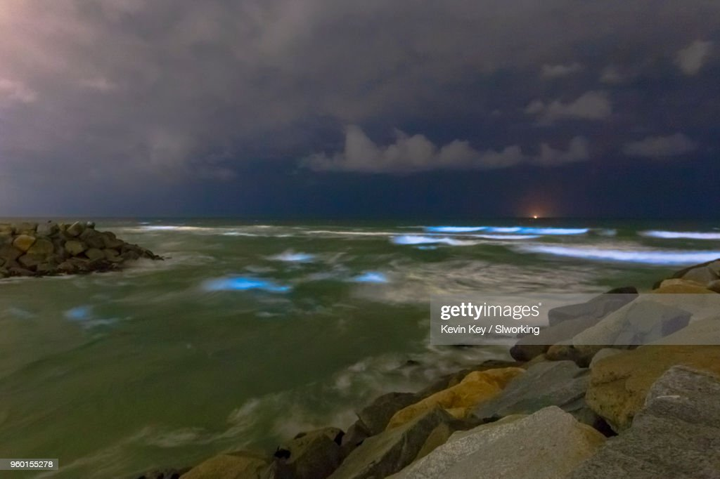 May 2018 Bioluminescent Red Tide in San Diego County : Stock-Foto