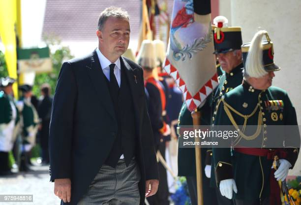 Archduke Karl of Austria on his way to the church for the funeral Photo KarlJosef Hildenbrand/dpa