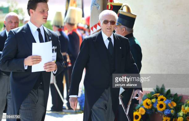 Duke Franz of Bavaria arrives at the funeral of Duke Friedrich of Wuerttemberg who died in a car accident According to a palace spokesperson 2000...