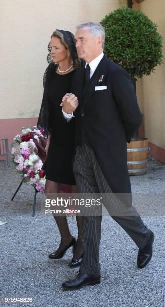 Duke Philipp of Wuerttemberg and his wife Marie leave the church Photo Thomas Warnack/dpa
