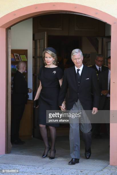 King Philippe and Queen Mathilde of Belgium leave the church Photo Thomas Warnack/dpa