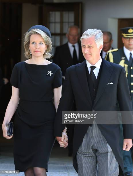 King Philippe and Queen Mathilde of Belgium leave the church Photo KarlJosef Hildenbrand/dpa