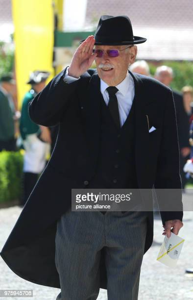 Margrave Max of Baden arrives at the funeral of Duke Friedrich of Wuerttemberg who died in a car accident According to a palace spokesperson 2000...