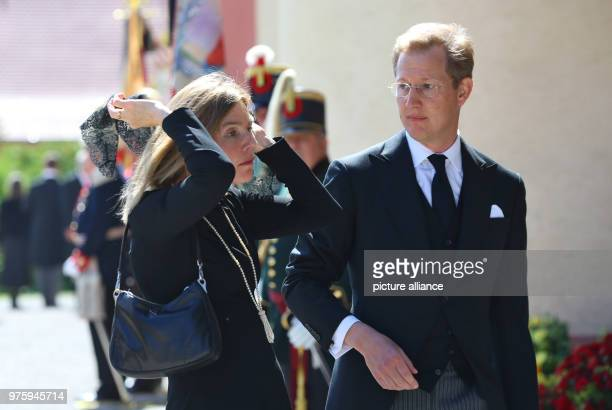 Prince Bernhard of Baden and his wife arrive at the funeral of Duke Friedrich of Wuerttemberg who died in a car accident According to a palace...