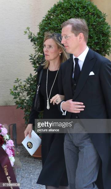 Prince Bernhard of Baden and his wife leave the church Photo Thomas Warnack/dpa