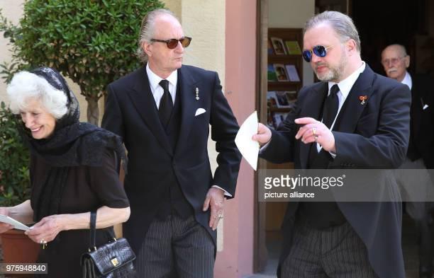 Prince Friedrich of Hohenzollern and Prince Alexander zu SchaumburgLippe leave the church Photo Thomas Warnack/dpa