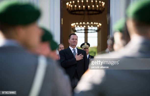 Richard Allen Grenell the Unted States' new ambassador to Germany taking leave from the Bellevue Palace after his accreditation by German President...