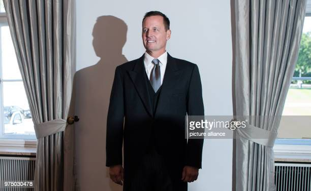 Richard Allen Grenell the Unted States' new ambassador to Germany on the occasion of his accreditation by German President FrankWalter Steinmeier in...