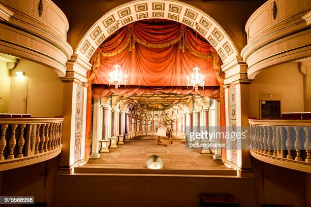 May 2018, Germany, Gotha: The baroque theatre inside Friedenstein Palace. The theatre is one of the oldest baroque theatres with a functioning stage...