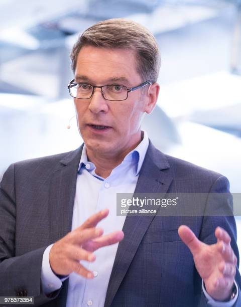 Alexander Birken CEO of the Otto Group speaking during the trade and services company's annual financial balance press conference The Otto Group...