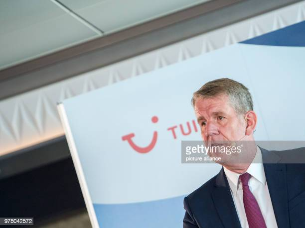 CEO of the travel company Tui Fritz Joussen speaking at a press conference The European desire for holidays keeps the world's largest travel company...