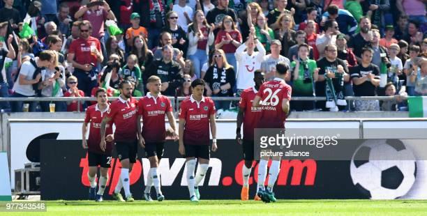 05 May 2018 Germany Hanover Soccer Bundesliga 33rd day of play Hanover vs Hertha BSC at the HDIArena Hanover's Martin Harnik celebrates his goal 10...
