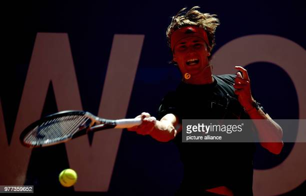 Tennis ATPTour men's singles final Alexander Zverev of Germany playing against Kohlschreiber of Germany Photo Angelika Warmuth/dpa