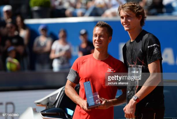 Tennis ATPTour men's singles final Alexander Zverev  of Germany wins the 'BMW Open 2018' in the match against Philipp Kohlschreiber of Germany Photo...