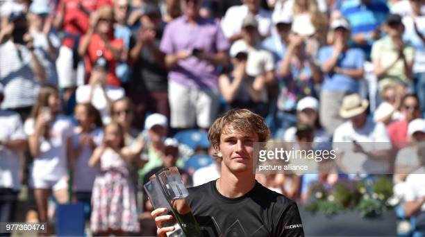 Tennis ATPTour men's singles final Alexander Zverev of Germany wins the 'BMW Open 2018' in his match against Kohlschreiber of Germany Photo Angelika...