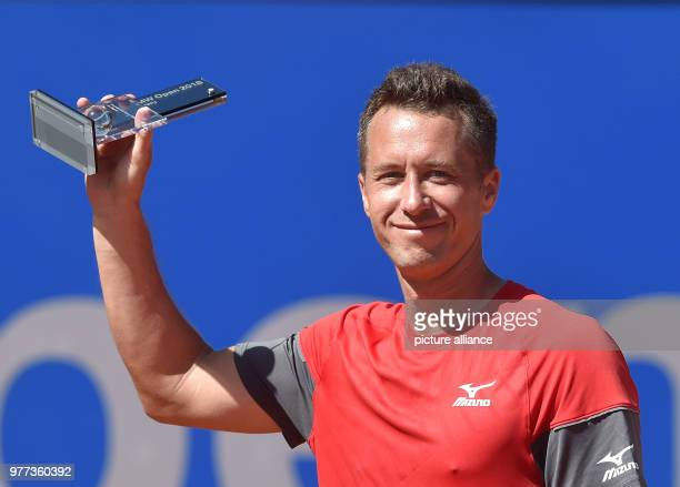 Tennis ATPTour men's singles final Philipp Kohlschreiber of Germany comes 2nd in the 'BMW Open 2018' after losing to Alexander Zverev of Germany...