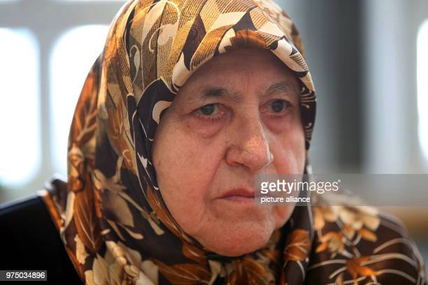 May 2018, Germany, Solingen: Mevlude Genc giving an interview. Mevlude Genc lost two daughters, two granddaughters and one niece during the racially...