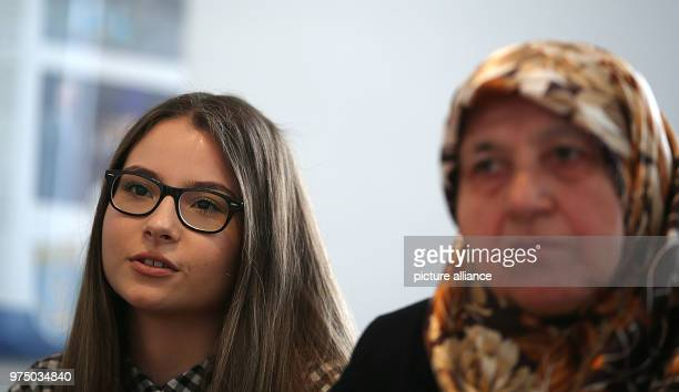 May 2018, Germany, Solingen: Ozlem Genc , granddaughter of Mevlude Genc, giving an interview. Mevlude Genc lost two daughters, two granddaughters and...
